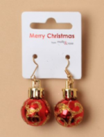 Glittery bauble earrings  (Code 4325)